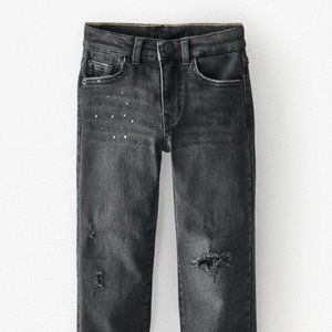 NWT Zara Black Paint Splatter Jeans